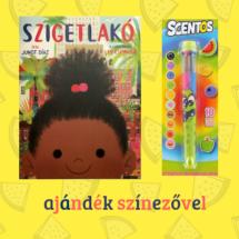 Szigetlakó ajándék 10 színű, illatos tollal, színezővel